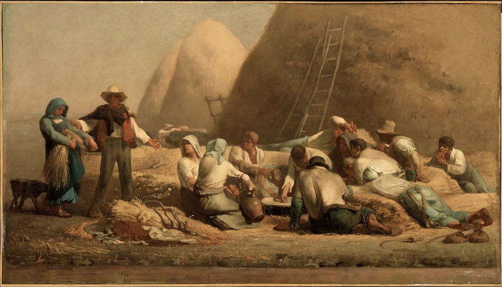 Jean-Francois Millet - Ruth and Boaz (Harvesters resting) /1853/