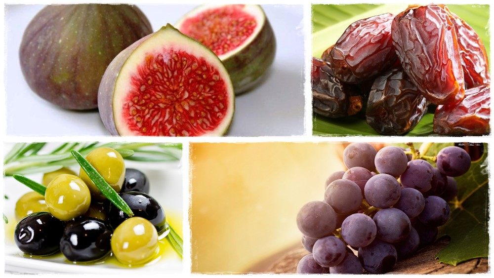 A négy legnagyobb mennyiségben termesztett gyümölcs a bibliai időkben