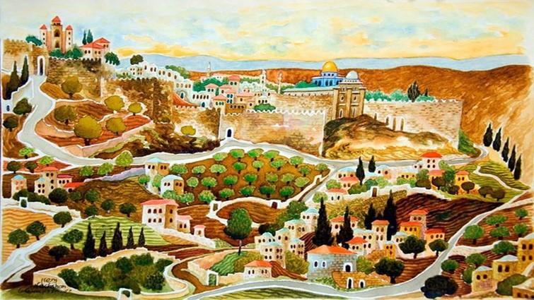 Napnyugta Jeruzsálem felett
